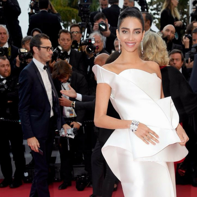 Jessica Kahawaty Shuts Down The Red Carpet In Another Middle Eastern Label At Cannes