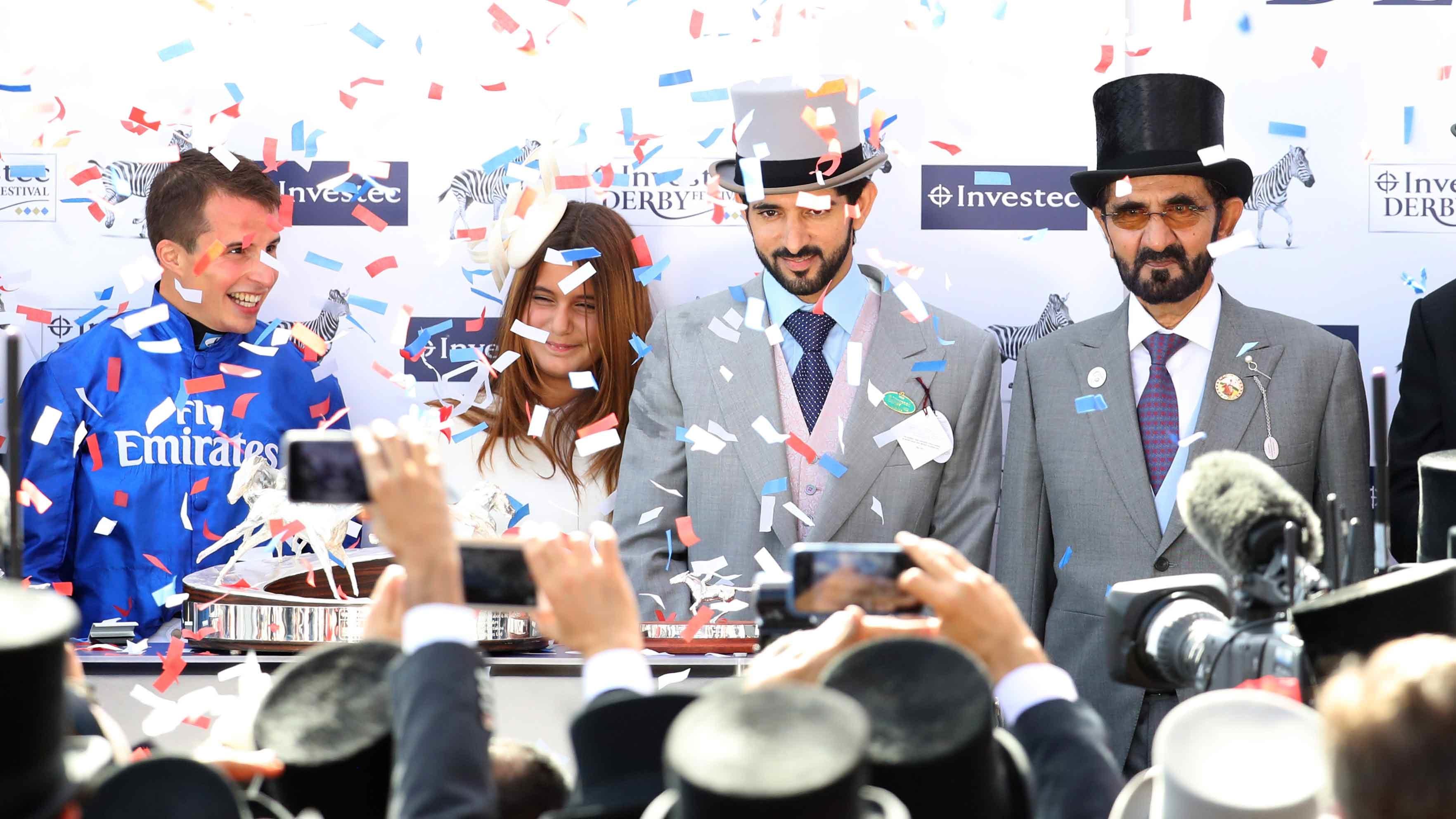 Dubai Royal Family Celebrate Epsom Derby Win