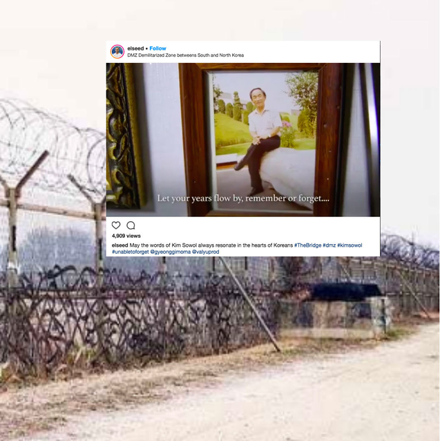 French-Tunisian Artist EL Seed Installs Artwork In The Korean DMZ