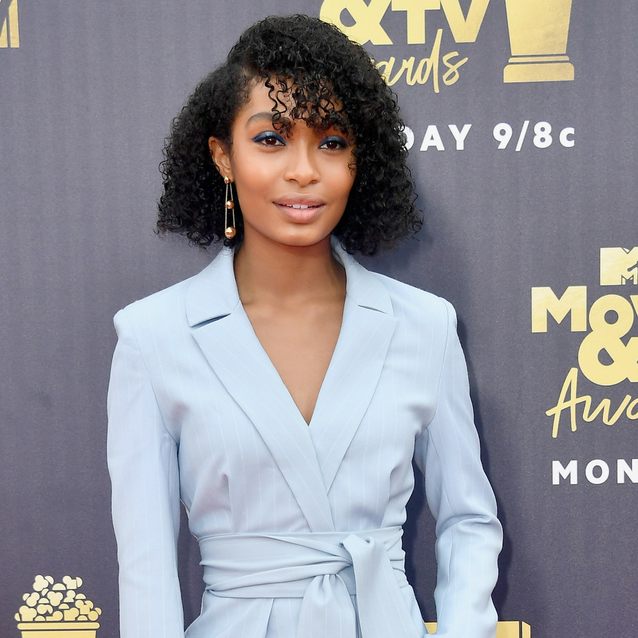 Yara Shahidi Just Rocked The Coolest Ice Blue Suit At The MTV Music Awards