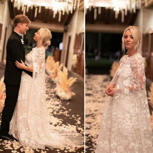 All The Details Of Kaley Cuoco's Custom Reem Acra Wedding Dress