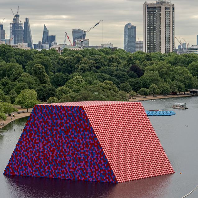 Christo Reimagines Mesopotamia In London's Serpentine Lake