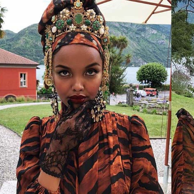 Halima Aden, Sonia Ben Ammar and Naomi Campbell Walk The Runway At Dolce & Gabbana's Alta Moda Show In Italy