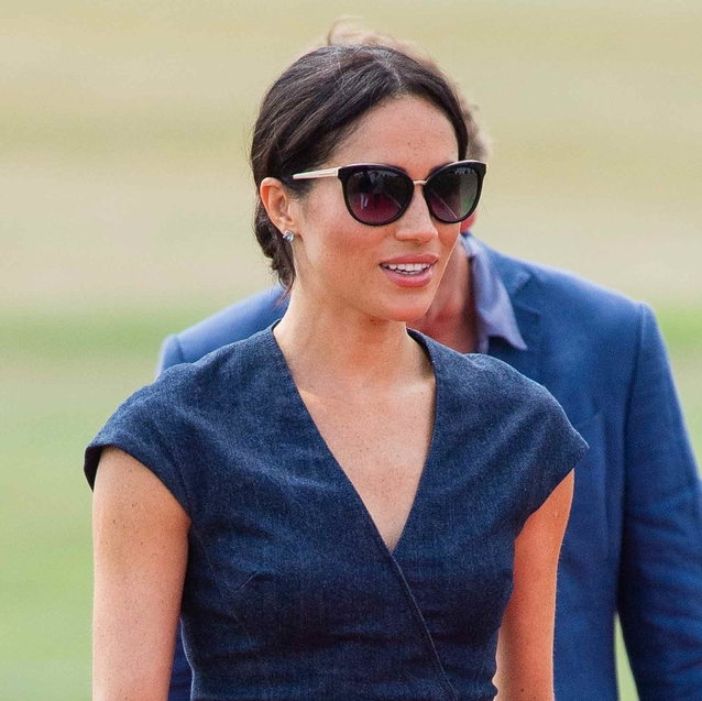 Pictures: Duchess of Sussex Wears Denim Dress To Watch Prince Harry Compete In Polo Cup