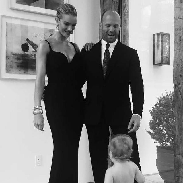 Rosie Huntington-Whiteley Shares Rare Family Photo Ahead Of Husband's Movie Premiere