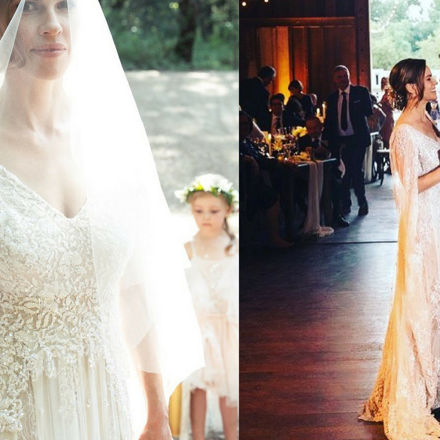 Hilary Swank Weds In Custom Elie Saab Couture