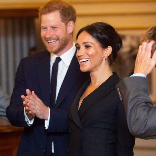 Meghan Wears Chic Tuxedo Dress To Watch Charity Performance Of Hamilton