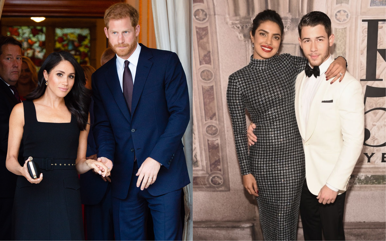 Priyanka Chopra And Nick Jonas Recreate The Duke And Duchess Of Sussex's Engagement Portrait