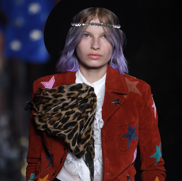 Saint Laurent Went Ethereal Rocker For Their PFW Show