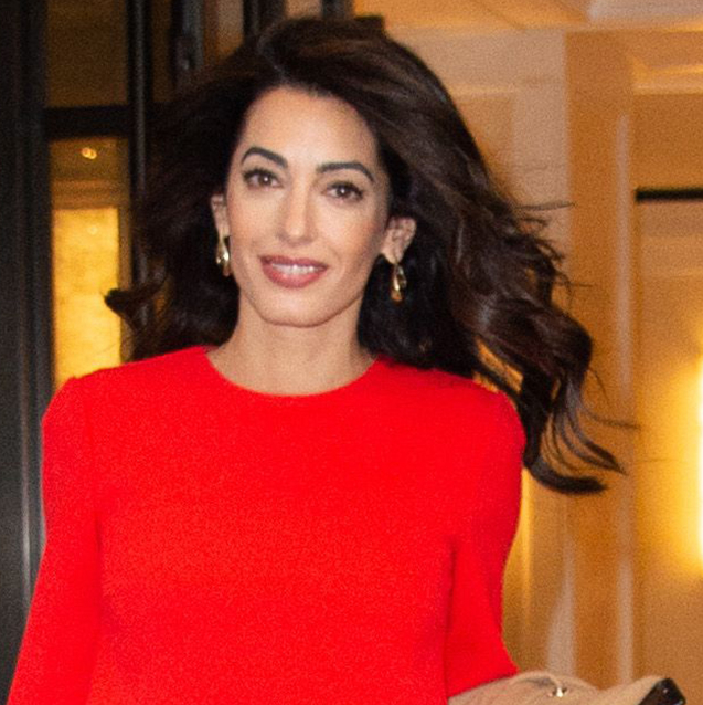 Amal Clooney Wears A Powerful Red Dress To The United Nations General Assembly
