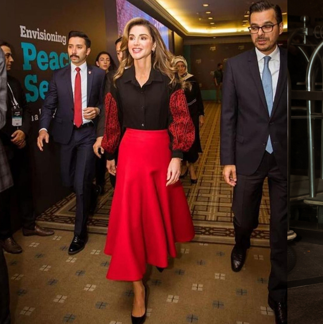 Queen Rania Treats Royal Followers To Two Looks By Arab Designers This Week