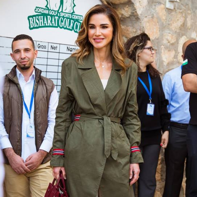 Queen Rania Is The Second Royal To Tap Into This Autumnal Trend