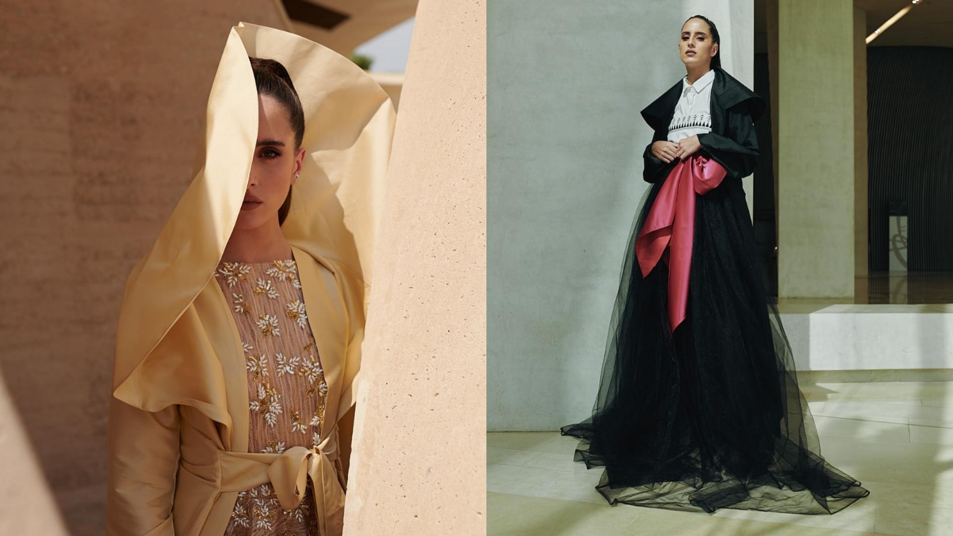 Taleedah Tamer Is The Face Of The Tanween Fashion Exhibit At Ithra's 'Creativity Season' In Saudi Arabia
