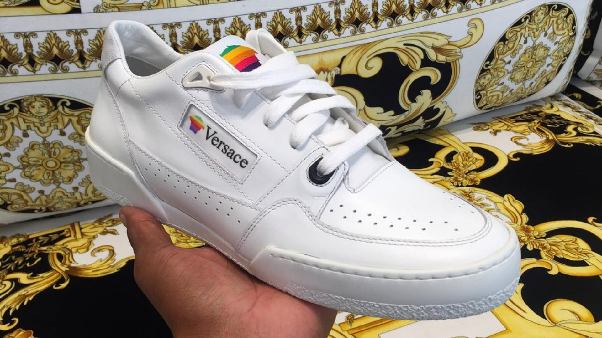 Apple Made Sneakers In The 90s — Versace May Be Bringing Them Back
