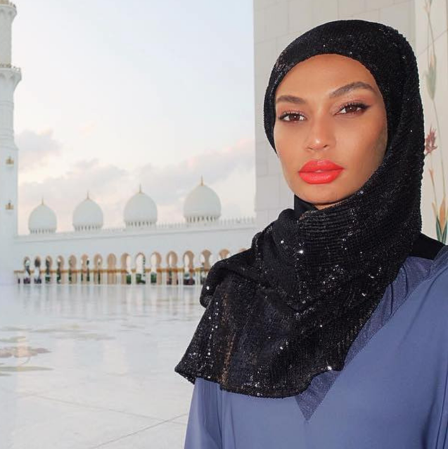Joan Smalls Got A Sparkly Abaya Custom-Made Just For Her Abu Dhabi Trip