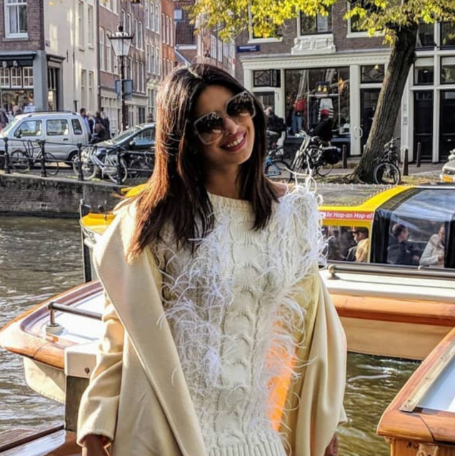 Priyanka Chopra Wears Yet Another White Ensemble On Her Wedding World Tour