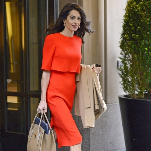Amal Clooney Officially Endorses The Monochrome Trend