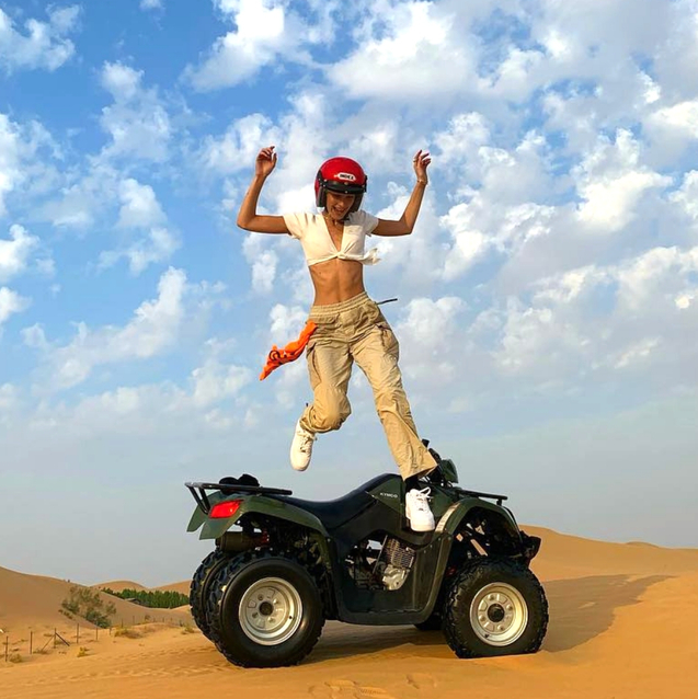 Every Insta Moment From Bella Hadid's Abu Dhabi Trip