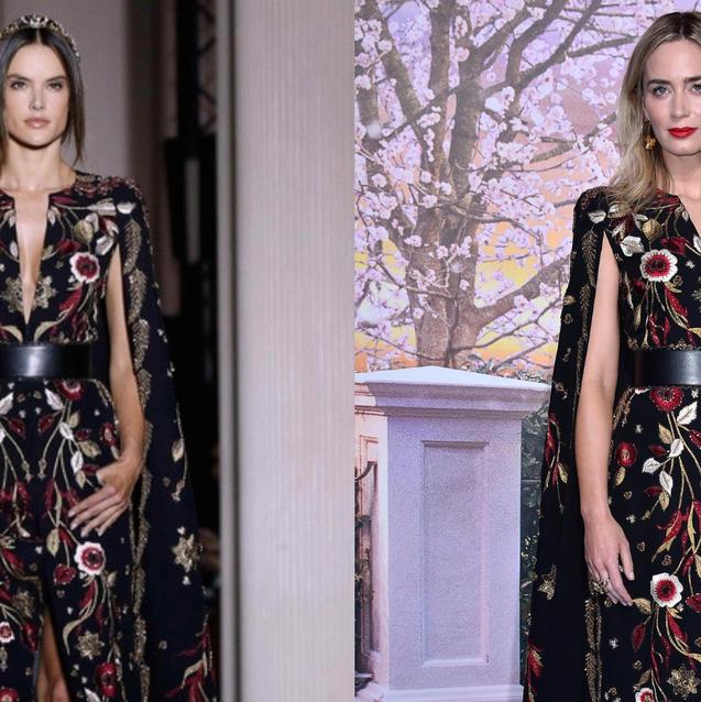 Emily Blunt Just Wore Alessandra Ambrosio's Zuhair Murad Runway Dress