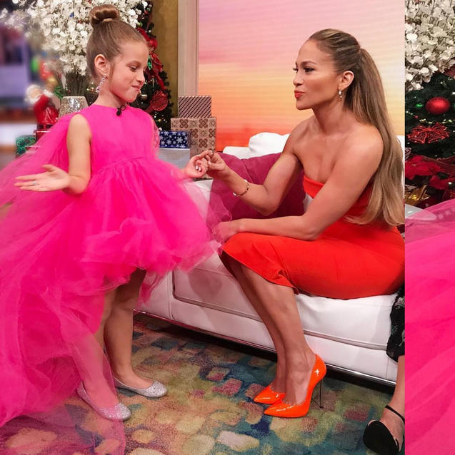 A 9-Year-Old Fan Just Recreated JLO's Pink Giambattista Valli Look And We All Missed It