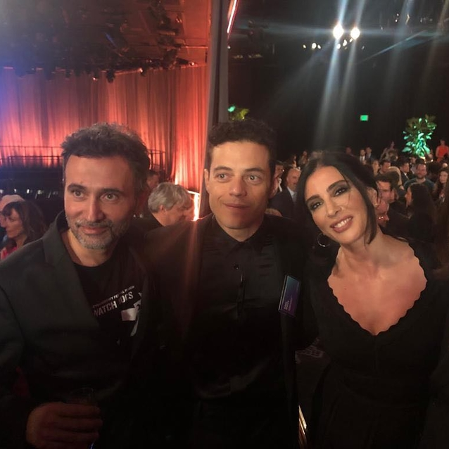 Nadine Labaki, Rami Malek And Talal Derki Just Hung Out Ahead Of The Oscars