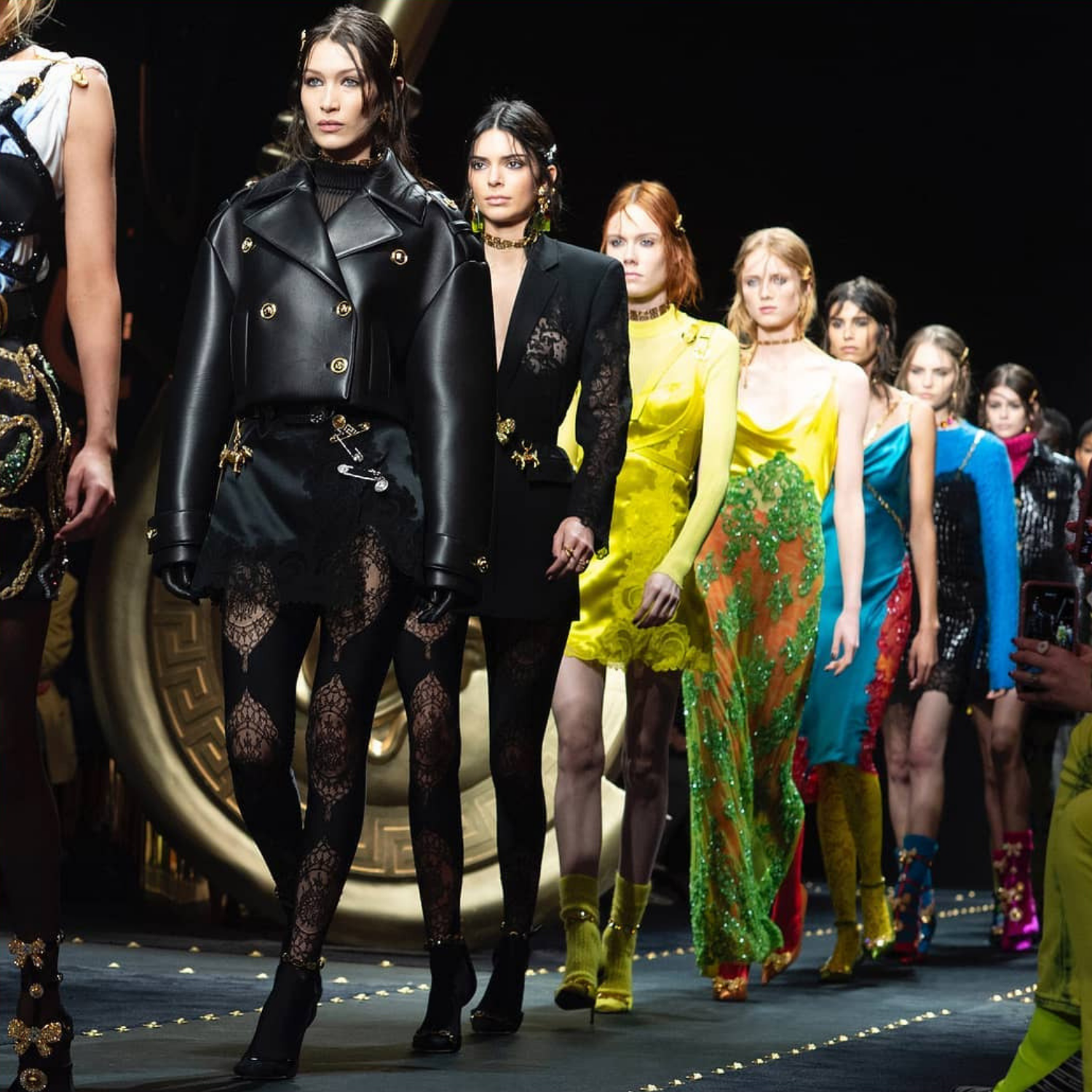 The Hadid Sisters And Imaan Hammam Ruled The Versace Runway