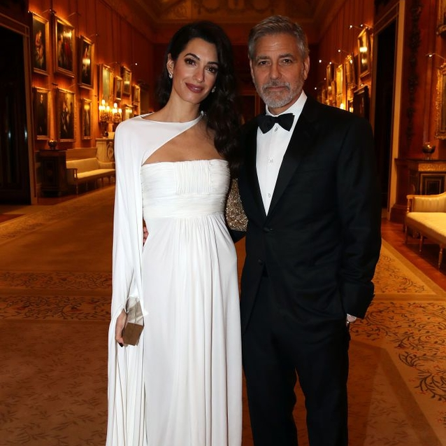 Amal And George Clooney Attend Prince Charles' Charity Dinner At Buckingham Palace