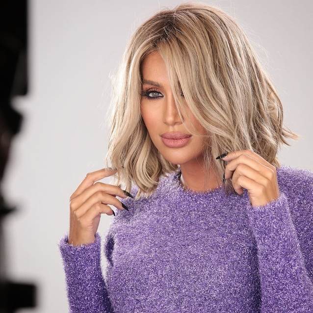 Maya Diab Becomes A Red Head For Latest Campaign