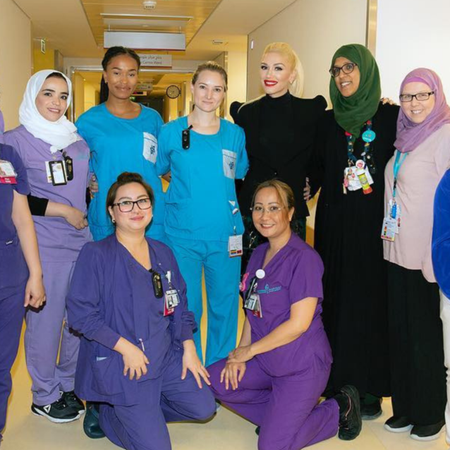 Gwen Stefani Paid A Visit To A Children's Hospital Whilst In Dubai