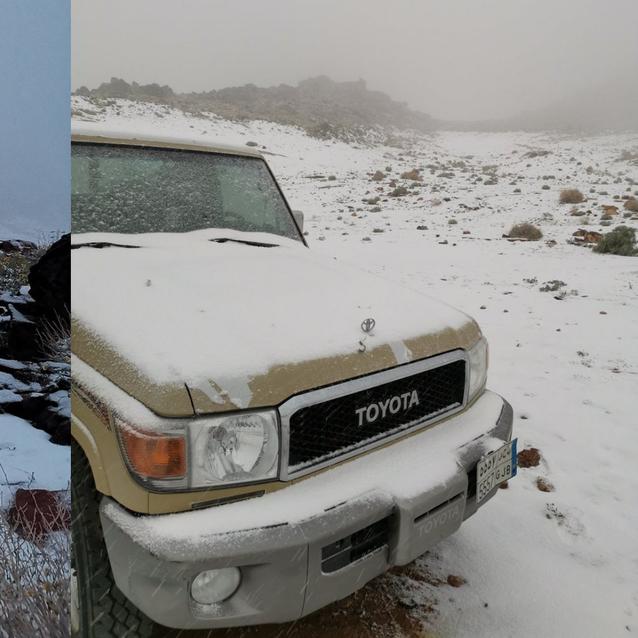 It Just Snowed In Saudi Arabia