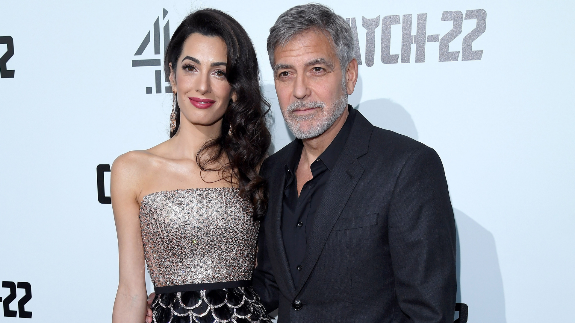 Amal Clooney Wows At The UK 'Catch-22' Premiere