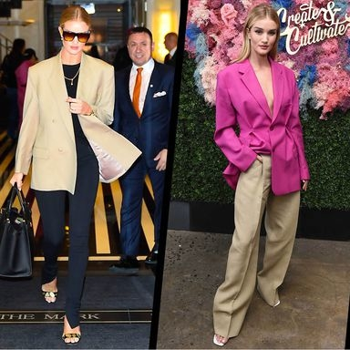 A Styling Lesson In Oversized Blazers With Rosie Huntington-Whiteley