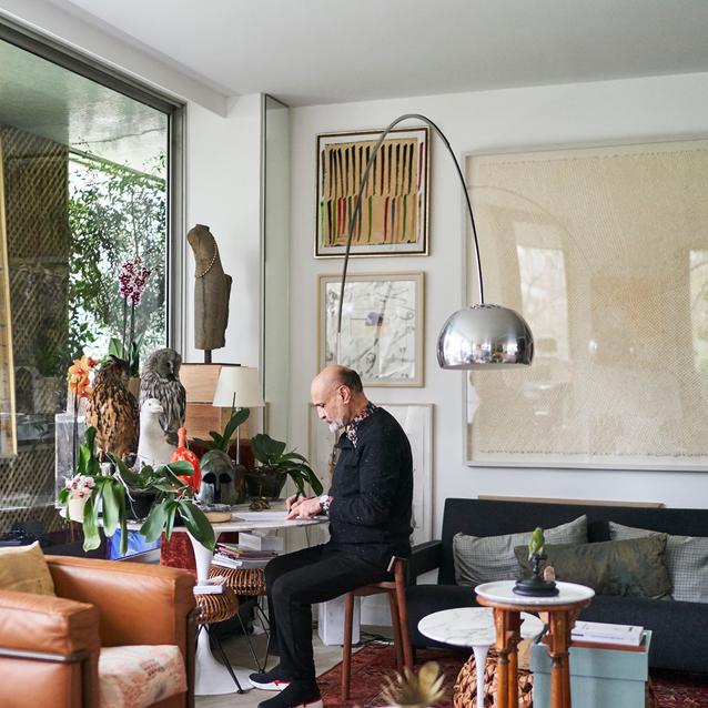 Inside Iranian Artist-Collector Fereydoun Ave's Paris Apartment