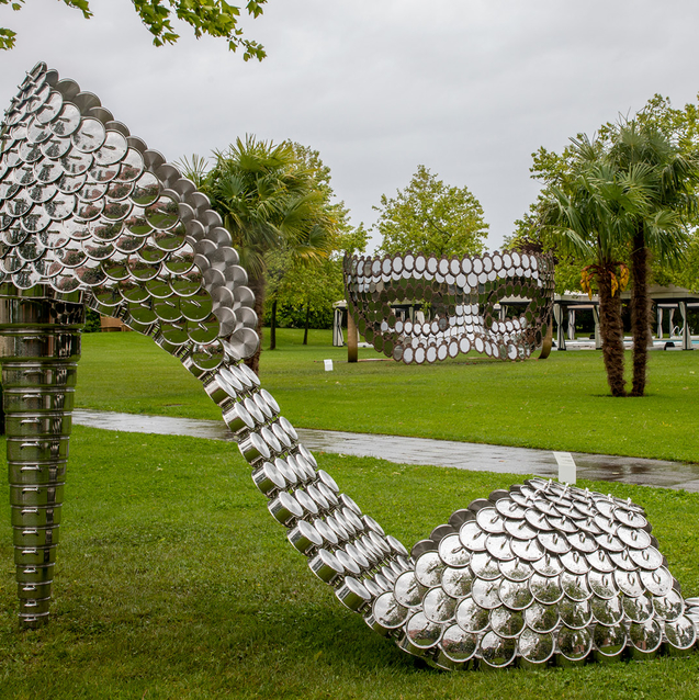 Major Works by Joana Vasconcelos On the Isola Di San Clemente Explores Migration, Identity and Gender