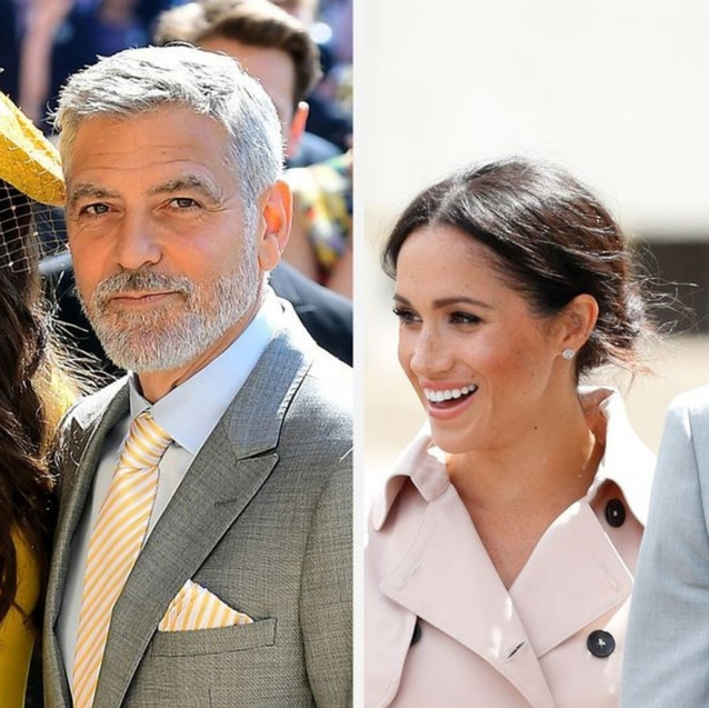 """George And Amal Clooney """"Have Dinners"""" With Meghan Markle And Prince Harry"""