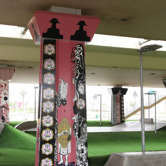 Iranian Artist Trio Unveil New Works At Reem Central Skate Park in Abu Dhabi