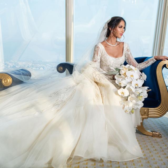 Inside This Couple's Opulent Burj Al Arab Wedding