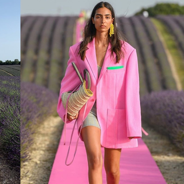 Jacquemus' Pink Catwalk In A Lavender Field Is The Runway To End All Runways