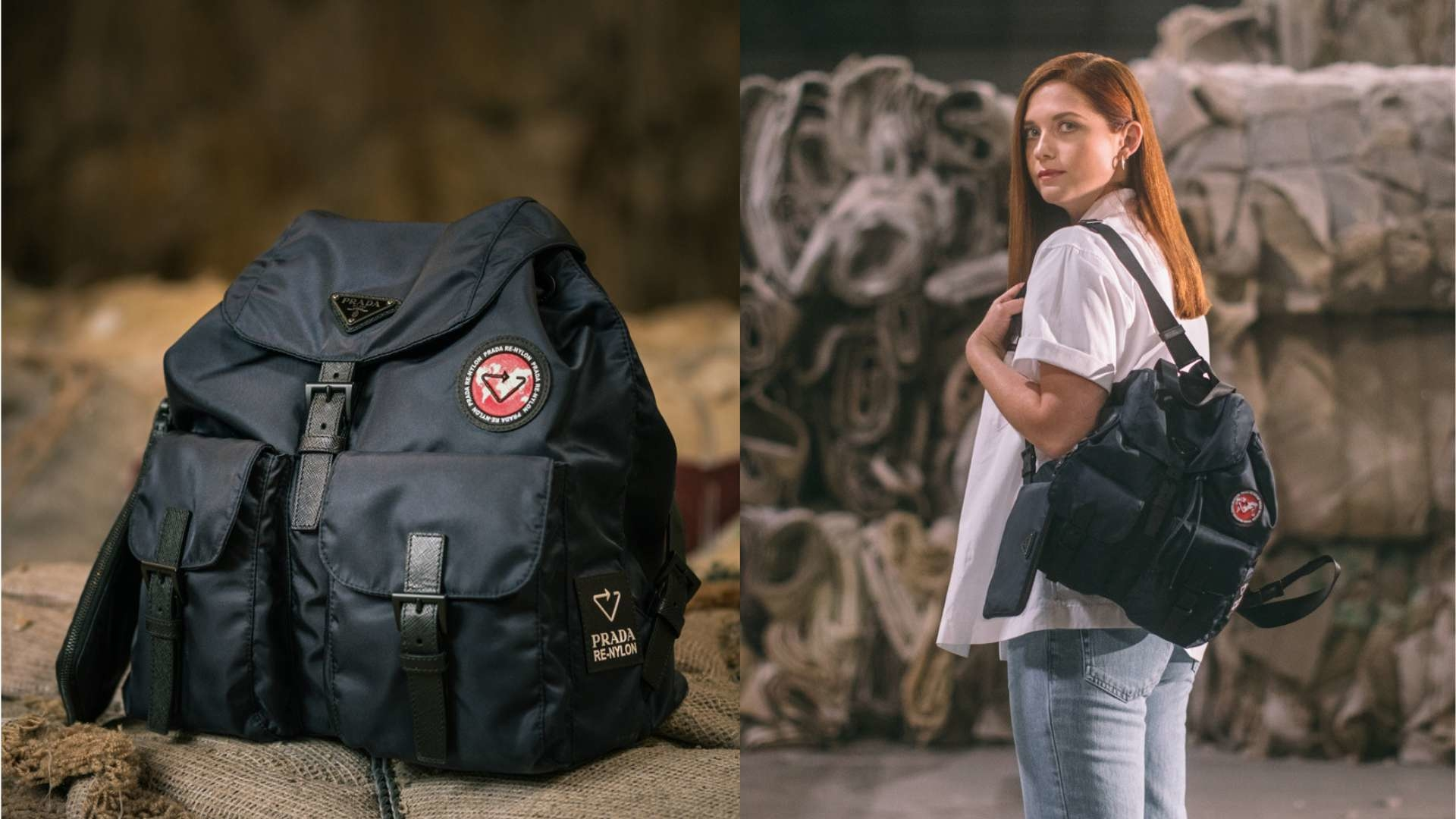 Prada Has Recreated Their Signature Nylon Bag Made From Plastic Bottles
