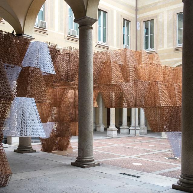 COS Presents Conifera By French Architect Arthur Mamou-Mani At Palazzo Isimbardi
