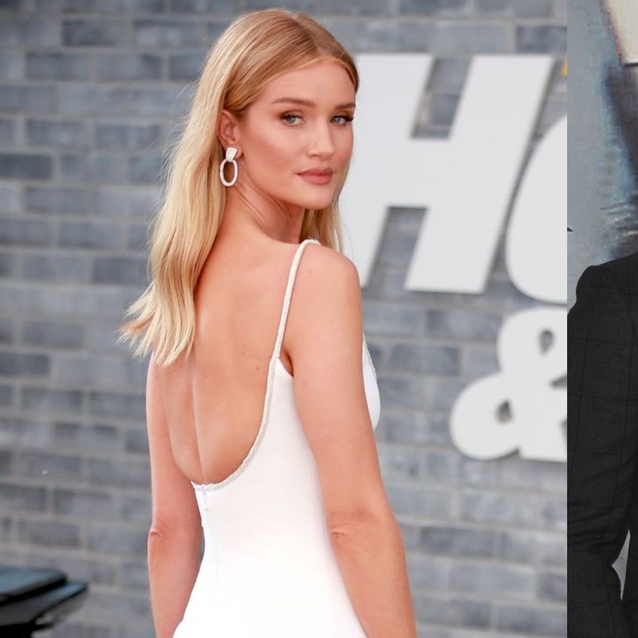 Rosie Huntington-Whiteley Wears Sheer White Dress To Fast And The Furious Premiere