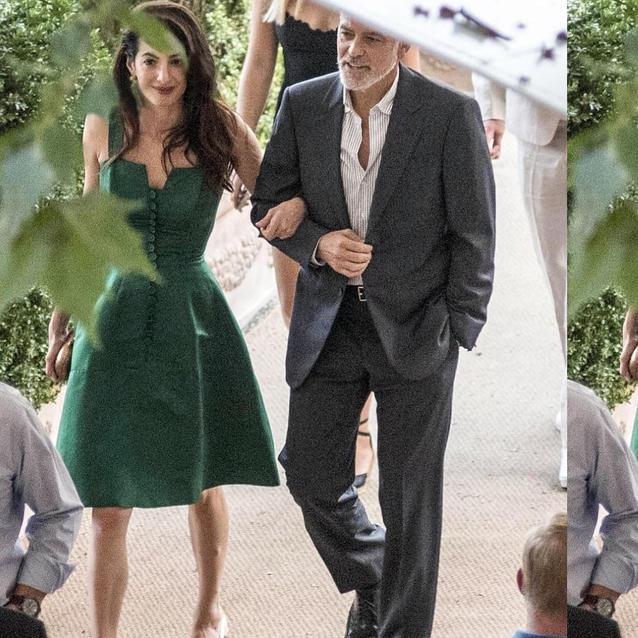 Amal And George Clooney Enjoy Date Night At Lake Como