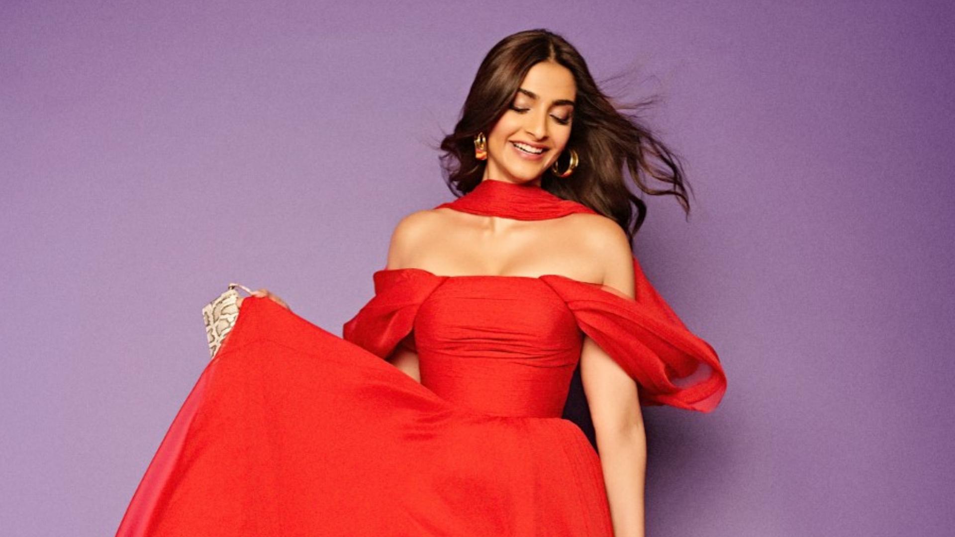 Sonam Kapoor Walks The Red Carpet Wearing A Lebanese Designer