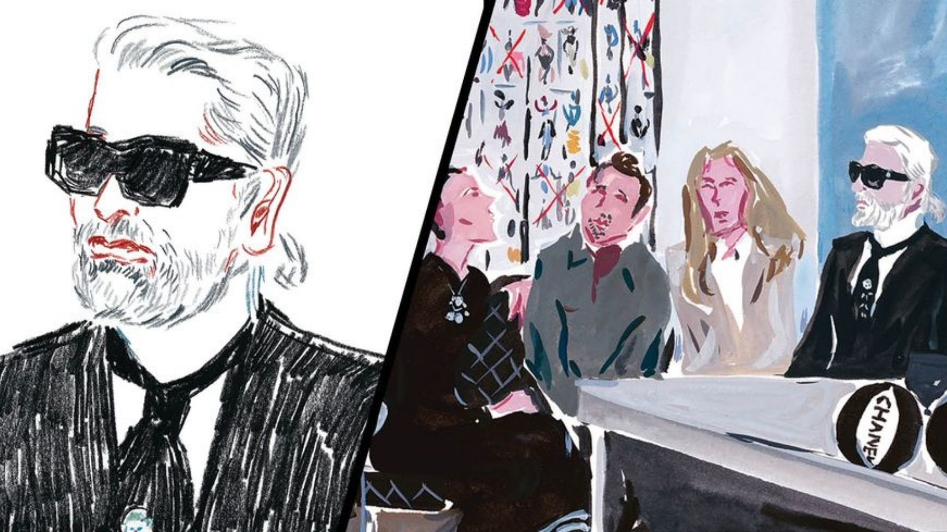 A New Illustrated Chanel Book Pays Homage To The Late Karl Lagerfeld