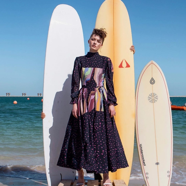 This Dubai Designer's Latest Collection Was Inspired By Wakesurfing And Now We Want To Go Wakesurfing