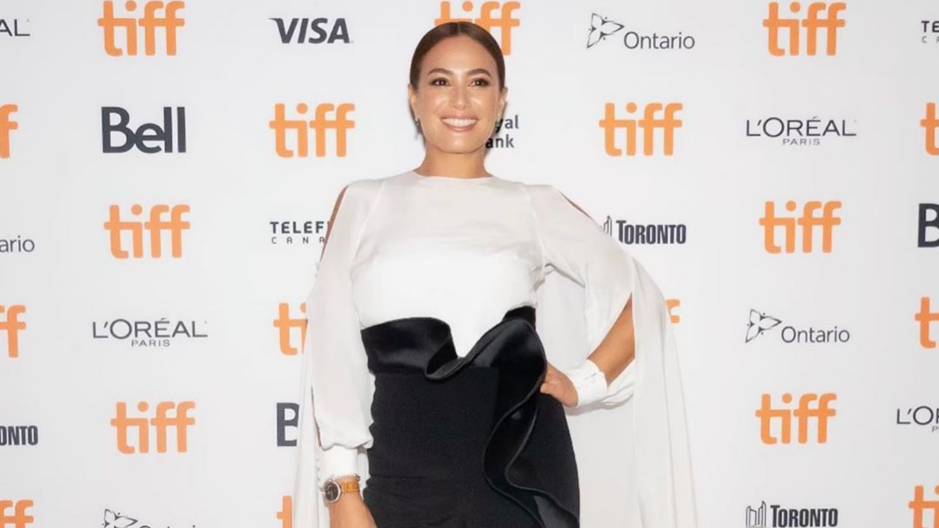 Hend Sabry Looks Effortlessly Chic Sporting This Lebanese Designer At TIFF