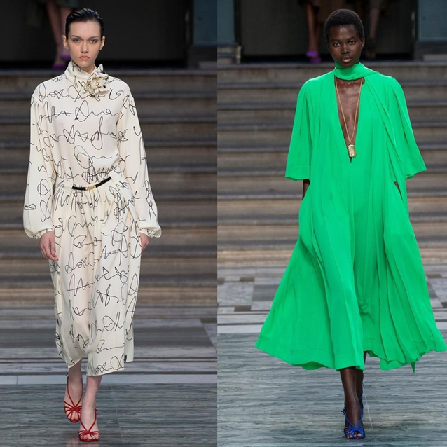 LFW: Victoria Beckham S/S20 Gave Us '70s Bourgeois-Chic