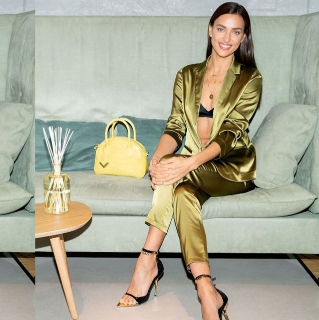 Irina Shayk Just Convinced Us To Buy A Silky Pyjama Suit
