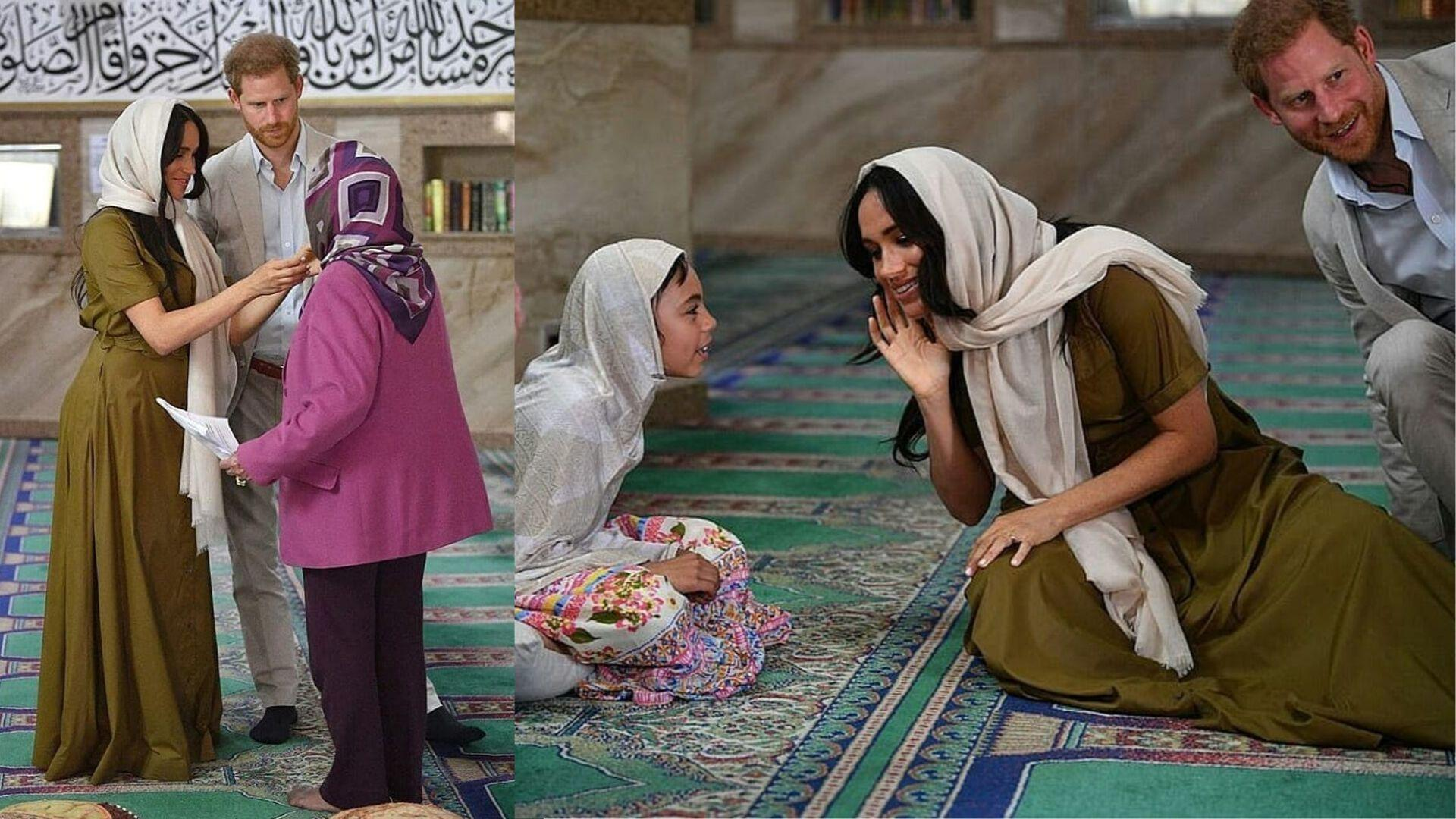 Meghan Markle Wears A Headscarf To Visit South Africa's Auwal Mosque