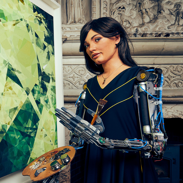 The World's First Robot Artist Ai-Da Is Coming To Dubai For The Bazaar Capsule